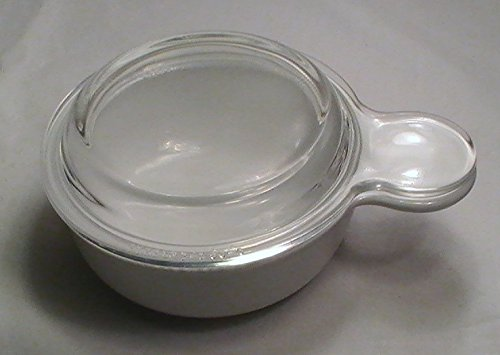 Corning Ware French White 15 Oz. Grab-It Heat N' Eat with Glass Lid