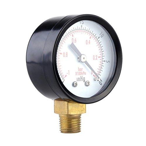 Edelstahl -30inhg -1bar Luftdruck Manometer Druckluft Vakuum Messer Instrument