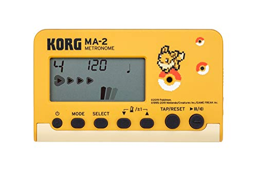 KORG Metronom MA2 Evoli, digitales Metronom im Nadelanzeige, Metronom mit verschiedenen Beats und Sounds, Pokémon Edition