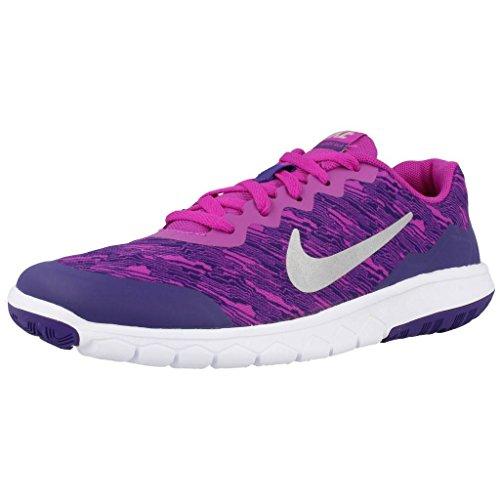 Nike Mädchen Flex Experience 4 Print (GS) Laufschuhe, Azul (Azul (Hypr VLT/Mtllc Slvr-Crt Prpl-W), 37.5 EU