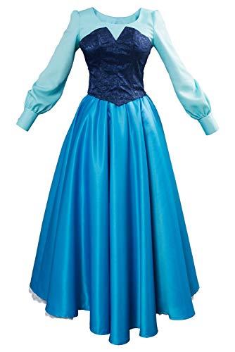 Women Girls Ariel Cosplay Dresses Costume Princess...
