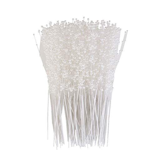 ULTNICE 100pcs String Pearls Sticks Bridal Wedding Pearl Bouquet Party Decor