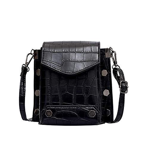 Bfmyxgs Fashion Bag für Frauen Mädchen Stein Muster Mini Square Bag Flut Ins Schulter Messenger Tasche Rucksack Schultertasche Handtasche Totes Münze Tasche Taille Beutelpackung Brust