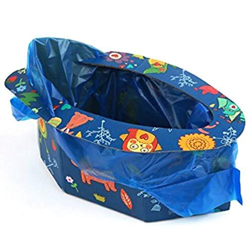 CarAngels 子ども用 座れる携帯トイレ 折りたたみ式 ポータブルトイレ 小便 大便 使い捨て4回分 万能簡易トイレ