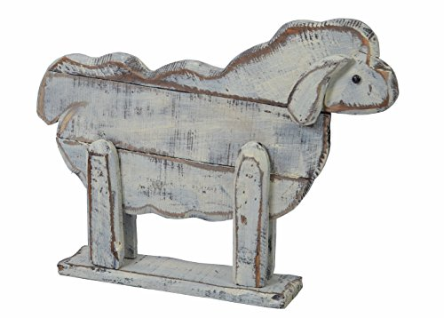 chiccie bois Mouton Molly – 40 cm – Vintage Shabby Chic Figurine Statue