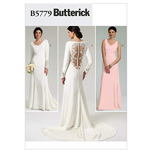 Butterick Patterns B5779 Size D5 12-14-16-18-20 Misses' Dress, Pack of 1, White
