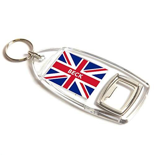 Flaschenöffner – Beck – Union Jack Flagge – Nachname Geschenk