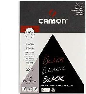 كانسون كراسة رسم أسود ، 20 ورقة اي 4