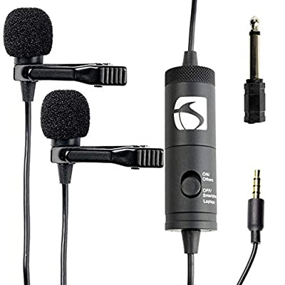 Industry Standard Sound ISSLM200 Lavalier Microphone for Iphone and Android, Smartphones, Tablets and Nikon Cameras