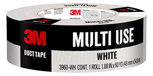 Scotch Painter's Tape 3960-WH 3M Multi-Use Colored Duct Tape 1.88 Inches x 60 Yards, 3960, 1 Roll, White
