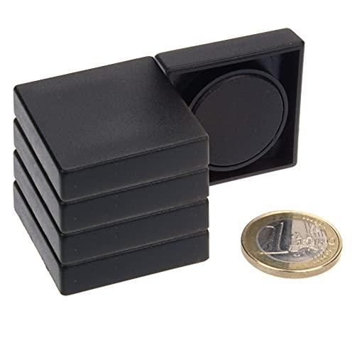 magnets4you - Lote de 5 imanes para pizarra magnética, 35 x 35 x 9 mm, soporta 1 kg, ferrita, para pizarra, nevera, oficina, escuela, pizarra