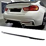 XZJDM Spoiler De Tronco Trasero, para Estilo M3 Glossy Black Car Trunk Tapa Tapa Spoiler Wing Fit para 4 Series F32 Coupe 2014+ Accesorios para Automóviles