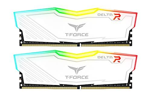 Team RGB WHITE(発光型LED8個モデル) DDR4 3600Mhz(PC4-28800) 8GBx2枚(16GBkit) RGB DELTA WHITEシリーズ デスクトップ用メモリ ハイスピードタイプ 日本国内無期限保証