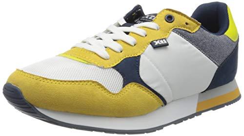 XTI 49660, Zapatillas Hombre, Blanco (Blanco/Amarillo Blanco/Amarillo), 42 EU
