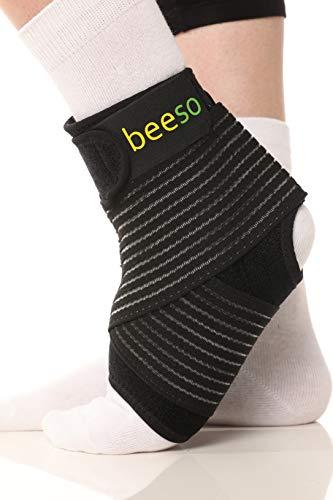 Medizinische Sport Fußbandage Sprunggelenk von BEESO   Fußgelenkbandage Gelenkbandage Knöchelbandage Sprunggelenkbandage für links & rechts - stützt Fuß Fußgelenk Knöchel bei Sport, Schmerzen