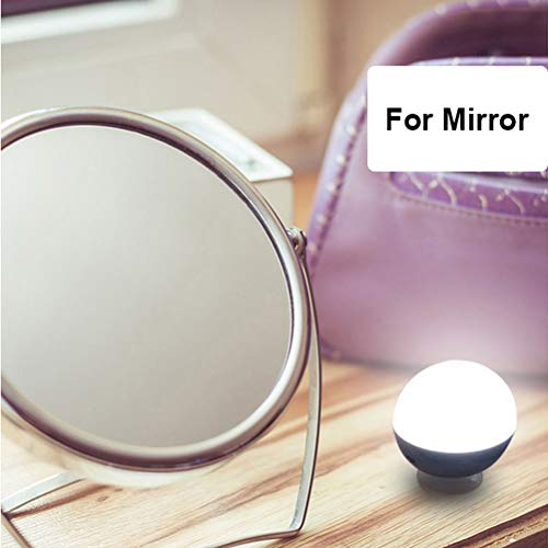 Vanity Mirror Lights, make-up, spiegellampen met 3 kleuren en helderheid verstelbaar, met 4 lampen voor make-upspiegel, kaptafel (geen spiegel) (Color: Sucker)