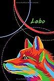 Lobo: Cuaderno de papel rayado, hermosa portada