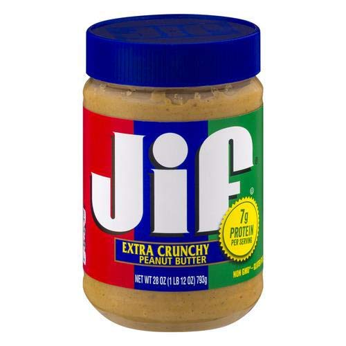 Jif Extra Crunchy Peanut Butter 28 Oz Pack of 2
