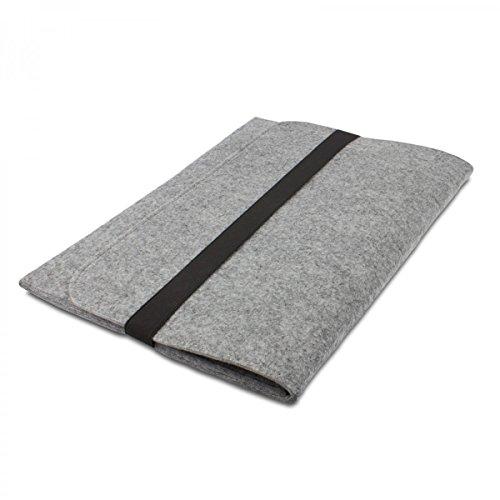 eFabrik Filz Hülle für Fujitsu LIFEBOOK T935, T904 (13,3 Zoll) Tasche Ultrabook Laptop Hülle Soft Cover Schutzhülle Sleeve Filz hell grau