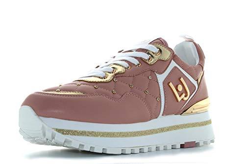 Liu Jo Scarpe Donna Sneakers Basse BXX051 EX014 01597 Maxi Alexa Running Taglia 37 Rosa