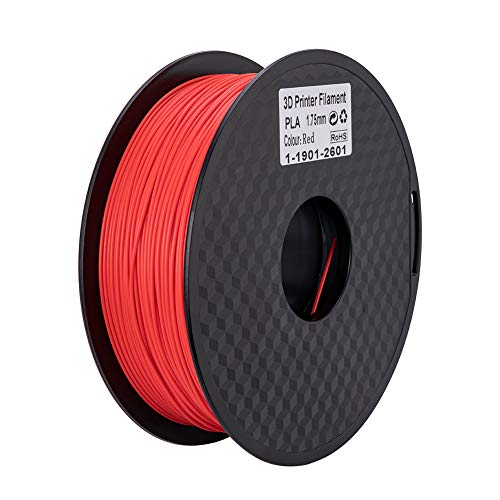 Ender PLA Filament 1.75mm 3D Printer Filament PLA for 3D Printer 1kg Spool (2.2lbs), Dimensional Accuracy of +/- 0.02mm PLA Red