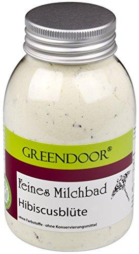 Greendoor Milchbad Hibiscusblüte 250ml aus der Naturkosmetik Manufaktur, Haut pflegendes Milch Bad, 100% natürlicher Badezusatz, bioabbaubar, Entspannungsbad, Wellnessbad, Geschenke