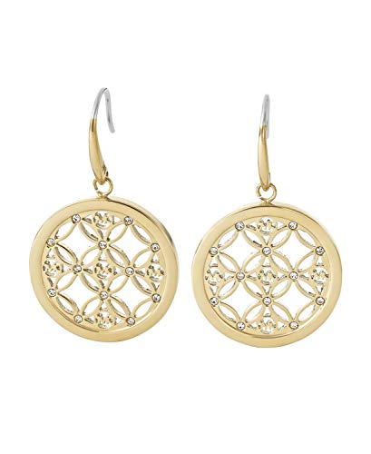 Michael Kors MKJ4278 710 Gold Tone Heritage MK Monogram Drop Earrings