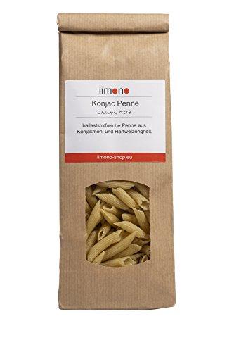 iimono Konjac Penne - kalorienarme & kohlenhydratarme Penne aus Konjakmehl und Hartweizengrieß (5 Portionen)