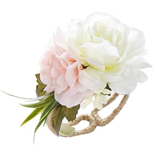 Desconocido Super1798 - Pulsera de Boda con Flores Artificiales, Ajustable, para Dama de Honor, Novia, Mano Abierta, Regalo