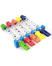 Barn Kids Colorful Water Flutes leksak Bath Musical roliga Badkar Toy innehåller låtar Song Sheets