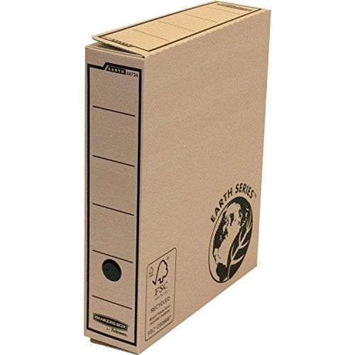 Bankers Box Earth Series Premium A4 Archivschachtel (aus stabiler Wellpappe, B31.80 x H6.70 x T25 cm) 10 Stück