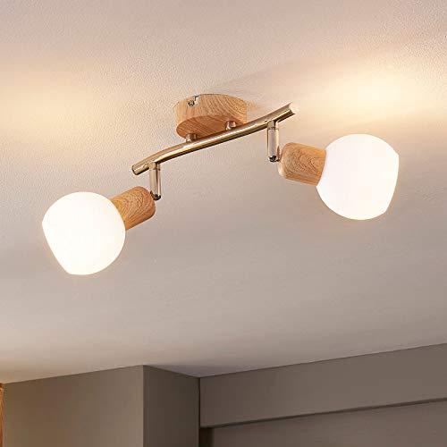 Lindby LED Deckenlampe 'Svenka' (Modern) aus Glas u.a. für Wohnzimmer & Esszimmer (2 flammig, E14, A+, inkl. Leuchtmittel) - Deckenleuchte, Wandleuchte, Strahler, Spot, Lampe, Wohnzimmerlampe