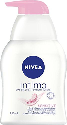 NIVEA 1er Pack Waschlotion für den Intimbereich, 1 x 250 ml Spender, Intimo Sensitive