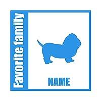 ForzaGroup 全犬種 全猫種対応 バセットハウンド1 (134-67) 犬 イヌ 車 ステッカー 名前入れ