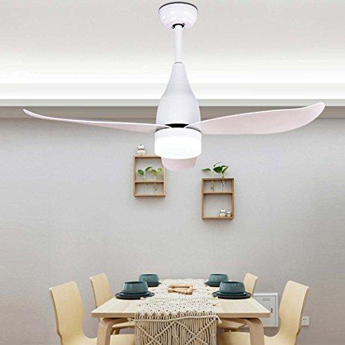Moderne plafondventilator met 3 spots plafondventilator, plafondventilator met licht en afstandsbediening, eenvoudig thuis macarons van acryl, 5 W, klassieke plafondventilator voor de winter en zomer.