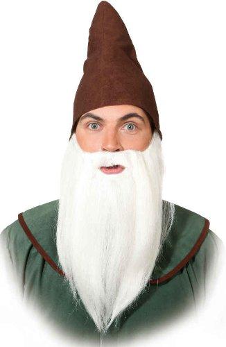 Orlob glatter Bart zum Kostüm Zwerg Vollbart zu Karneval Fasching weiß