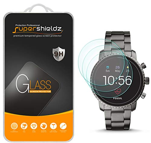 (3 Pack) Supershieldz for Fossil Q Explorist HR (Gen 4) Tempered Glass Screen Protector, Anti Scratch, Bubble Free