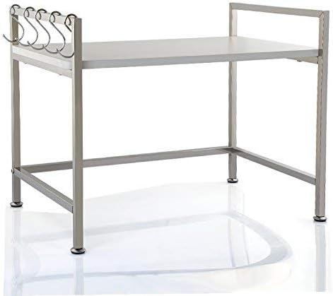 BINGFANG-W Kitchen 2-Shelf Shelving Microwa Cheap bargain Steel Genuine Unit Stainless