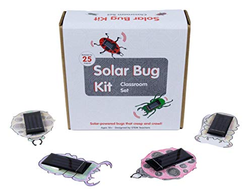 Brown Dog Gadgets Solar Bug 2.0 Classroom Set, STEM Educational Toy for Kids 10+, Solar Power Science Gift for Home Projects, Classroom and Students, Includes Materials for 25 Projects