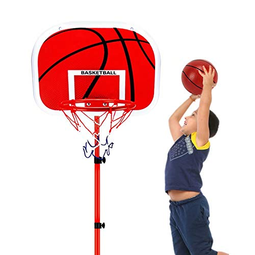 Lowest Prices! Children's Basketball Stand,Indoor Outdoor Portable Height Adjustable Basketball Hoop...