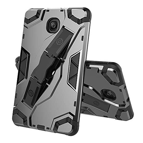 ZHIWEI Tablet PC Bag Custodia per Tablet per Samsung Galaxy Tab A 8.0 2018 T387, TPU + PC Cover Protettivo Multi-Funzione Antiurto con Manico Pieghevole Kackstand (Color : Black)