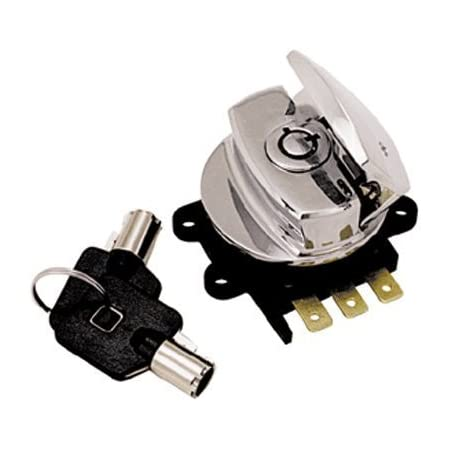 Chrome Twin Power 370050 Fat Bob Style Ignition Switch