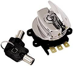 Bkrider Round Key Ignition/Light Switch for Harley Big Twin Models Replaces HD OEM 71313-96A (C01020862)