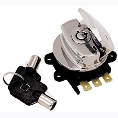 Bkrider Round Key Ignition/Light Switch for Harley Big Twin Models Replaces
