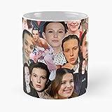 Star Eleven Icon Bobby Netflix Millie Collage Brown Celebrity Best 11 Ounce Ceramic Coffee Mug Best 11 Ounce Ceramic Coffee Mug Migliore Tazza da caffè Regalo 11 oz !