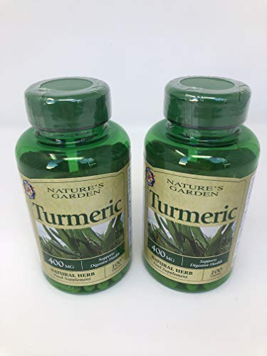 Nature's Garden Turmeric 400mg containing Curcumin 100 Capsules x2 Packs