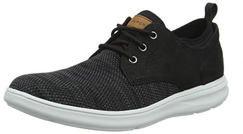 Rockport Herren Zaden Plain Toe Oxford Sneaker, Schwarz (Black Nubuck/Mesh 001), 40.5 EU