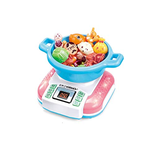 Juego de juguetes de cocina, Happy Little Chef pretends to Play with Toys, Kitchen Set, Simulation Kitchen Electric Steam Hot Pot Toy Girl Cooking Set Utensilios de cocina