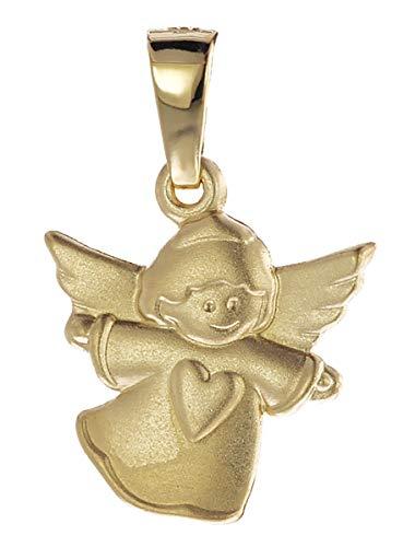 trendor Engel-Anhänger für Kinder Gold 585 liebevoller Goldanhänger für Mädchen oder Jungen, Engelanhänger für Kids, toller Goldschmuck, Geschenkidee 08757