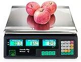 MFLASMF Básculas electrónicas Báscula Digital de Precios Básculas de Precios comerciales Básculas de Tienda Básculas de Verduras con Pantalla LCD para Tiendas minoristas Cocina Restaurante